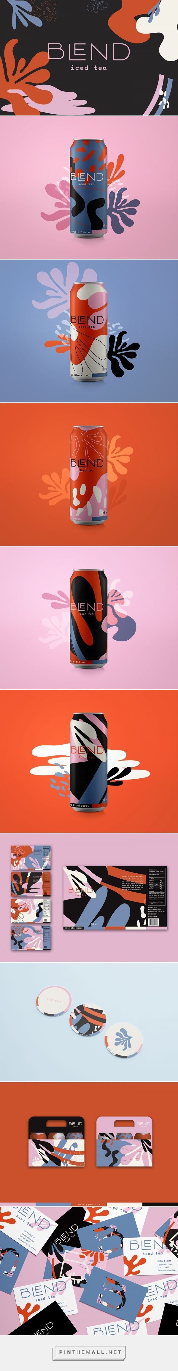 Blend Iced Tea Branding and Packaging by Chloe Hubler | Fivestar Branding Agency – Design and Branding Agency & Curated Inspiration Gallery