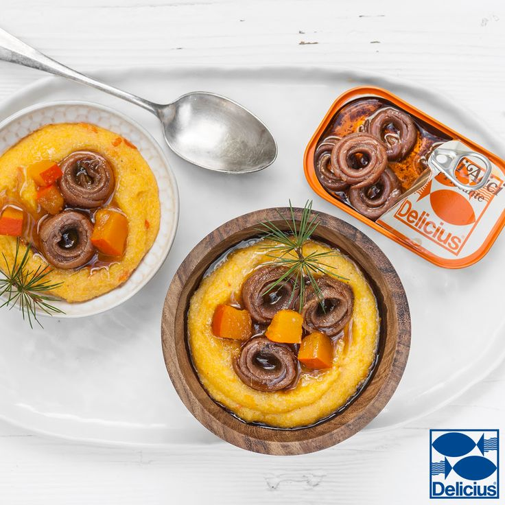 Polenta and Anchovies in spicy sauce!