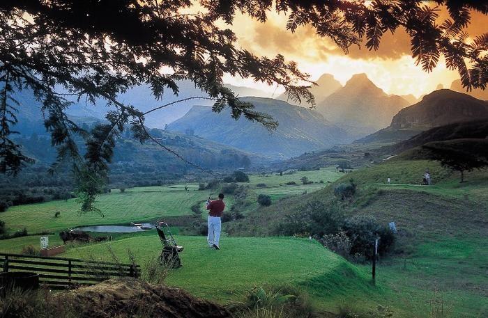 By Cathedral Peak Hotel, Drakensberg