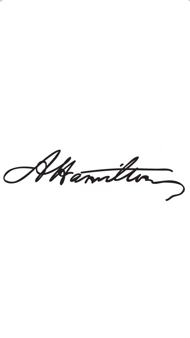 Alexander Hamilton signature wallpaper