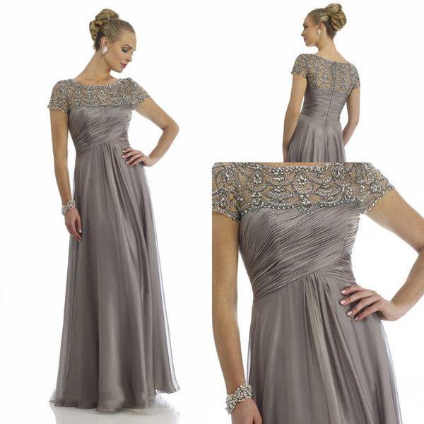 Vintage 2015 Sheer Mother Of The Bride Dresses A-line High