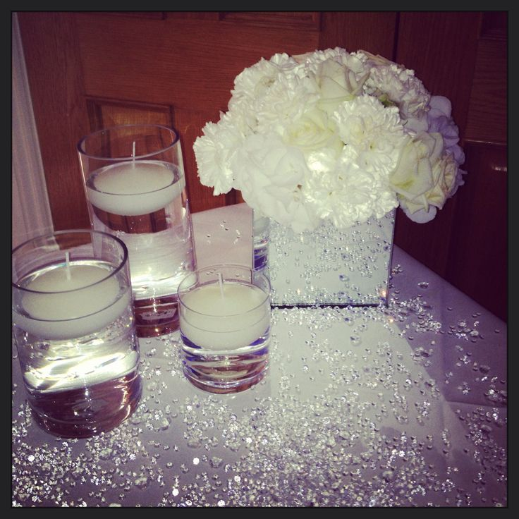 Abundance of crystals for the glam card table