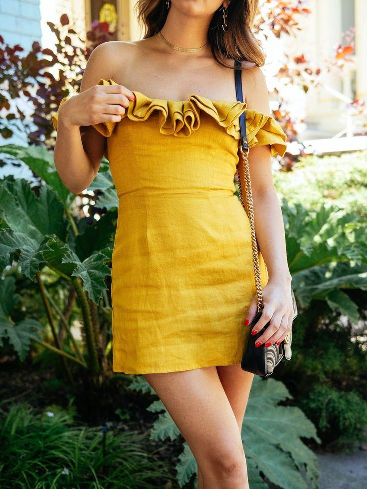 Liebe Grüße von Jackie: Gelbe Rüschen   – dresses