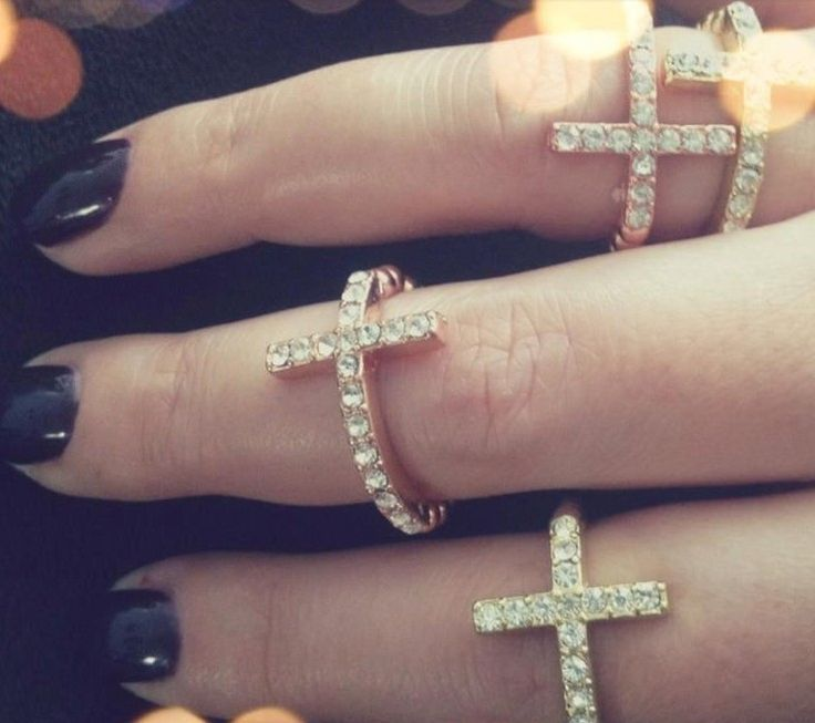 Cross rings in gold & silver  online boutique:  www.adornedbylove.com