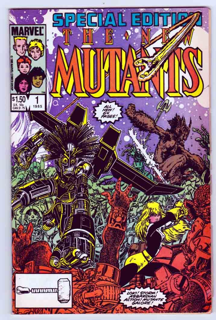 New Mutants Special Edition #1 (1985) Arthur (Art) Adams Cover and Pencils. Chris Claremont Story. Ann Nocenti Editor.