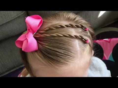 Twists Into a Half Side Ponytail - Easy Toddler Hairstyles