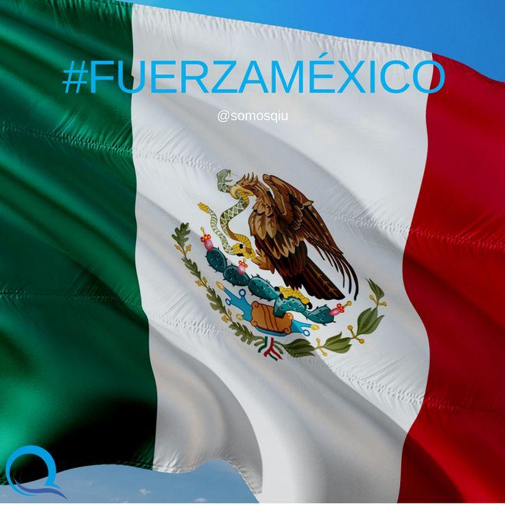 Apoyemos, reportemos y prevengamos. Unidos somos más fuertes! Desde #SomosQiu toda nuestra solidaridad ante el nuevo terremoto #FuerzaMéxico