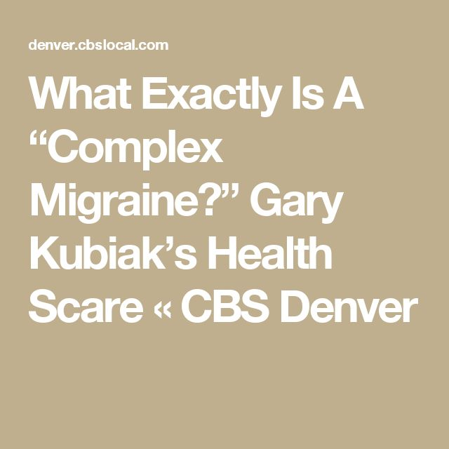 "What Exactly Is A ""Complex Migraine?"" Gary Kubiak's Health Scare « CBS Denver"