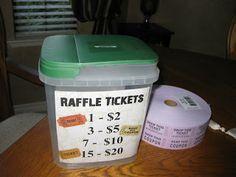ideas for raffle bucket