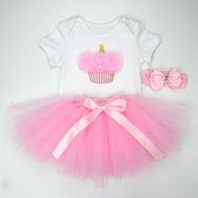 Christmas Baby Girl 3pcs Clothing Sets Infant Cotton Romper+Tulle Skirt+Headband Halloween Costumes Party Bebe Birthday Vestidos(China (Mainland))