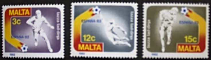 World cup football championship in Spain stamps, 1982, Malta SG ref: 694-696 MNH