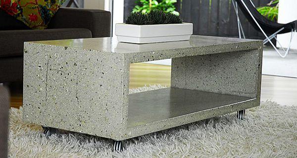 polished concrete coffee table IDEIAS PRA DECORAR COM CONCRETO