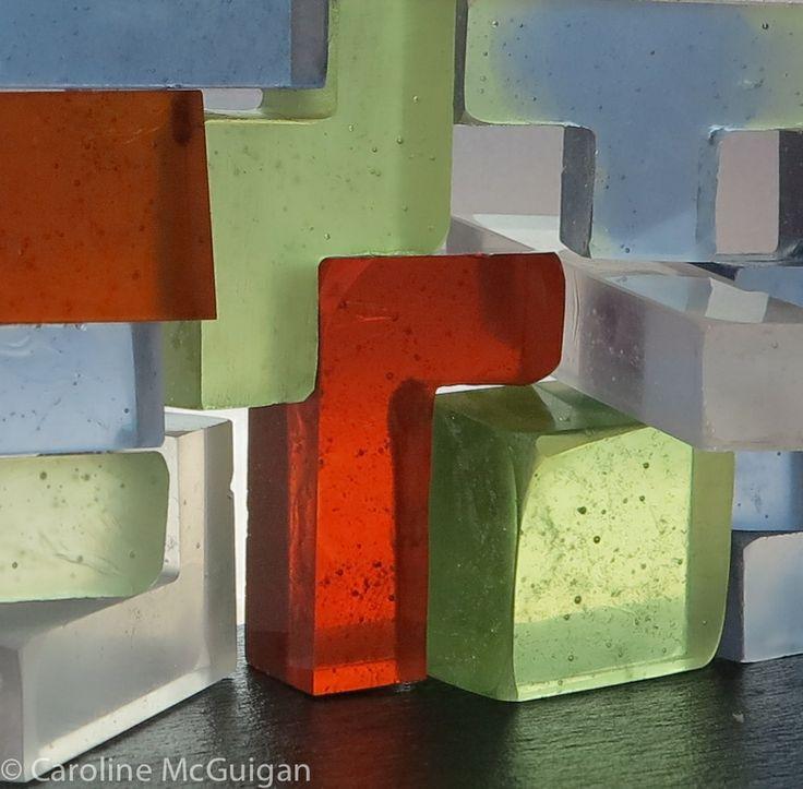 Sense of self Cast glass sculpture by Caroline McGuigan