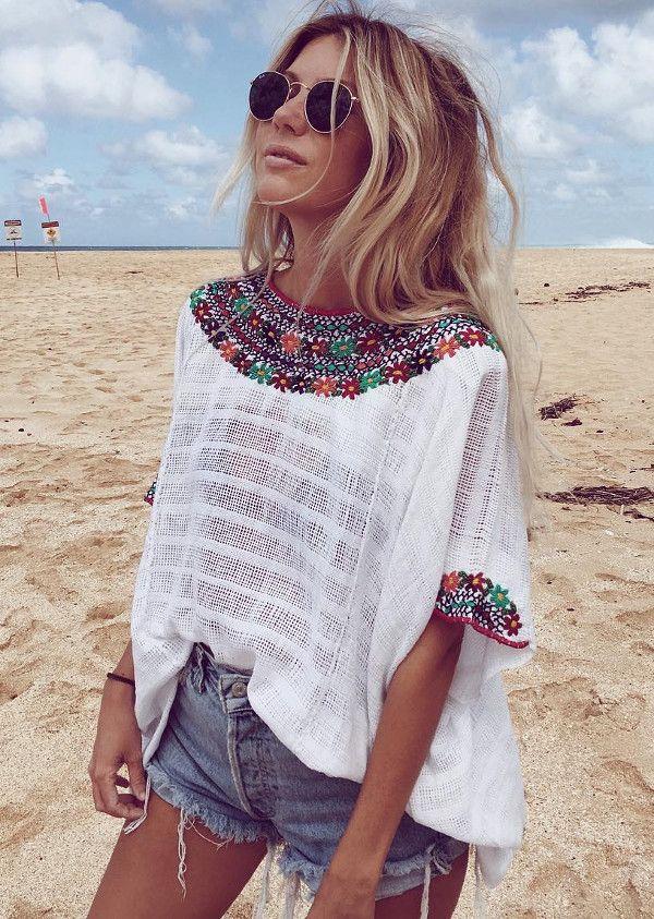 boho girl   beach style inspiration