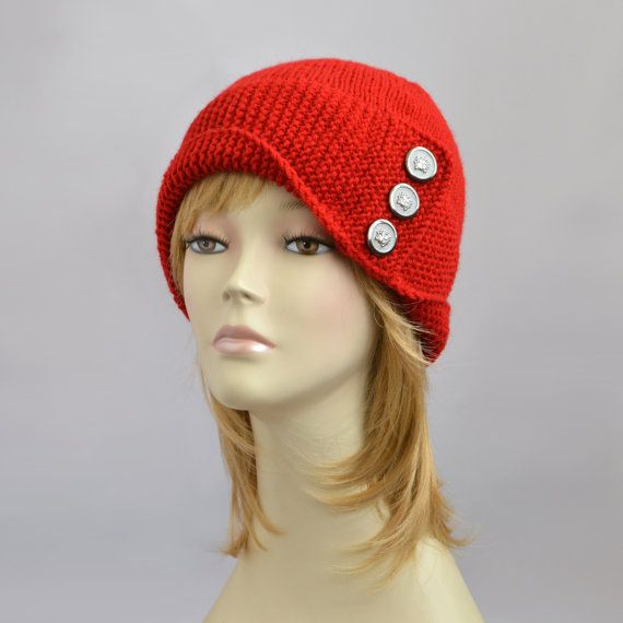 Knitting Pattern For Robin Hood Hat : Red Robin Hood Knit Hat or Handmade Knitted Robin by ...