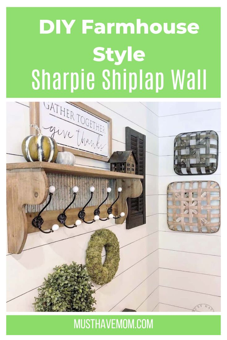 Diy sharpie shiplap wall spruce up any room with this diy