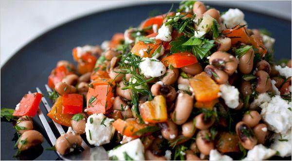 Greek Black-Eyed Peas Salad | Food & Recipes | Pinterest