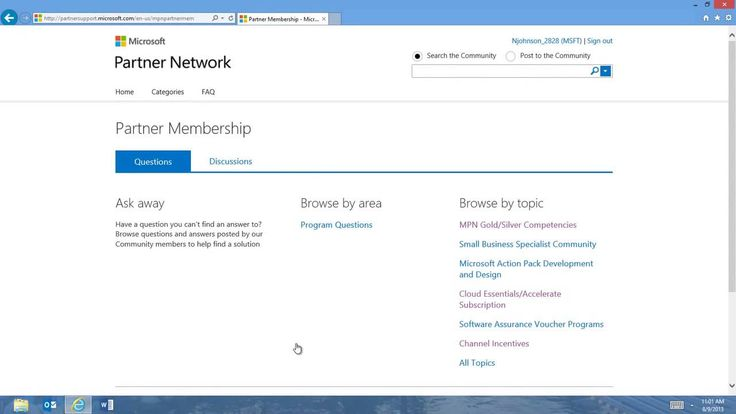 Microsoft Partner Network Partner Support Community ...