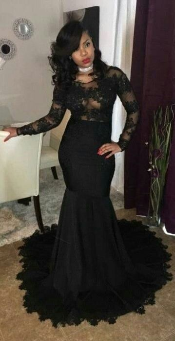 Black Fish Tail End Dress Styles For Beautiful Women