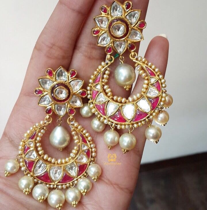 Cheti Chand Chandbali's  Deal of the Week Polki Earrings at INR 220000/- #dtdotw #luck  #diamantinafinejewels #special #glam #blogger #fashion #style #indianfashion #fblogger #styleblog #swag #beautiful #diamond #india #london #dubai #luxury #luxe #highlife #highjewelry #amazing #ootd #aotd #fashionista #shine by diamantinafinejewels
