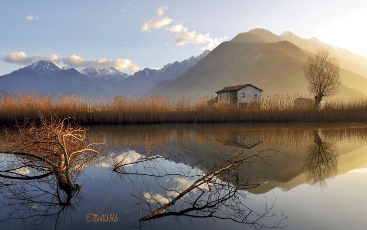 Photograph sunrise at the foot of the Alps (crossroad of two valley Valchiavenna - Valtellina) by ElliottWild on 500px