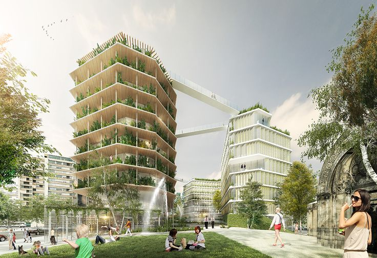 Les 22 projets qui doivent réinventer Paris : Sur cette tranchée ouverte au-dessus du périphérique au niveau de Ternes-Villiers-Champerret (17e) de 3.800 m2 va être construit des bureaux, des logements et des commerces. Les toitures seront végétalisées.