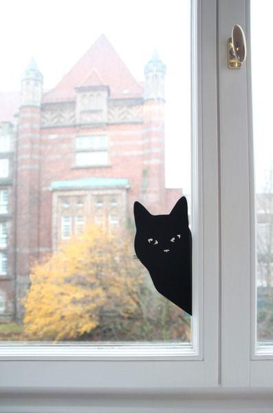 toll, toll, toll. so toll! Wandtattoo Wandsticker / Katze von Eulenschnitt auf DaWanda.com