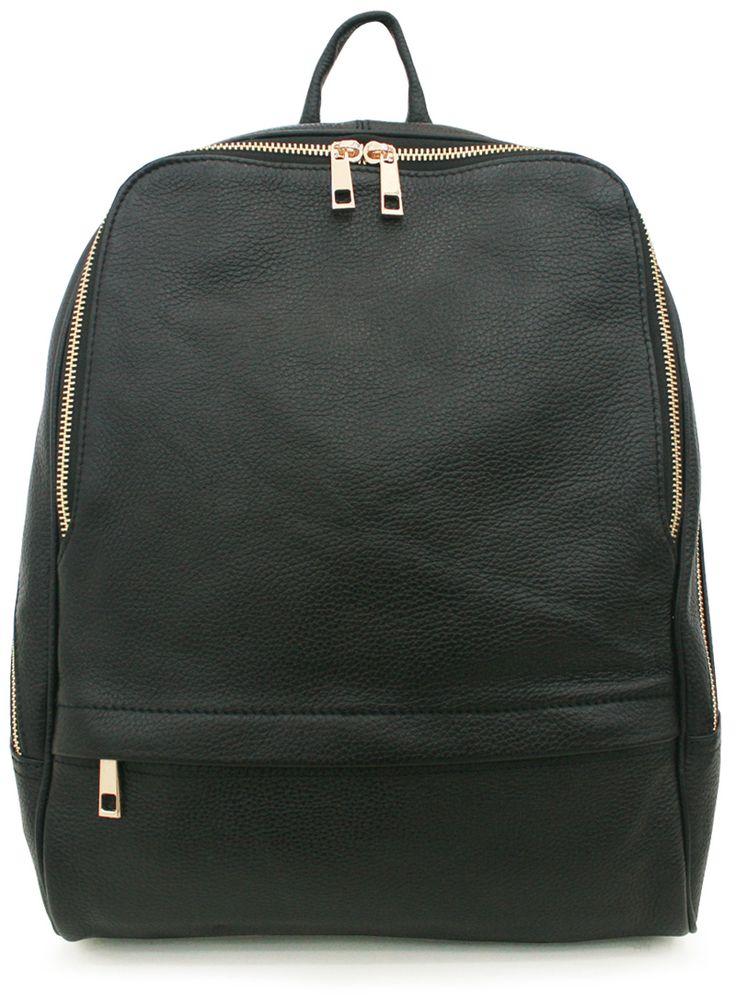 Black backpack | Korean Fashionista
