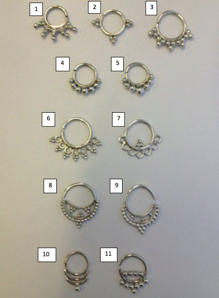 Love these!! Silver Septum Nose Septum for Pierced Noses by Tribulondon on Etsy, $23.00
