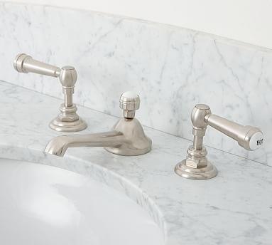 Reyes Lever Handle Widespread Bathroom Faucet, Satin Nickel Finish
