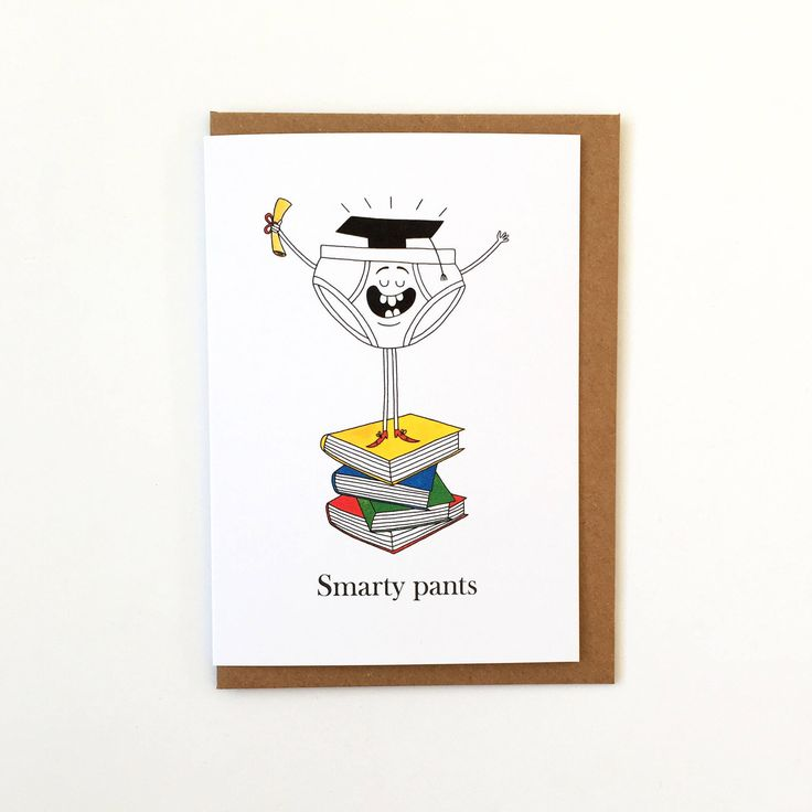 Smarty Pants - Exam Results - Graduation Greetings Card - Well Done - Congratulations Funny Card by TheMarchingPencils on Etsy https://www.etsy.com/uk/listing/537864552/smarty-pants-exam-results-graduation