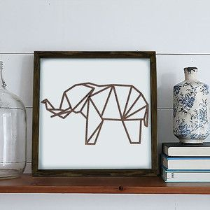 Zarámovaný obraz Dekorjinal Pouff Elephant, 33x33cm