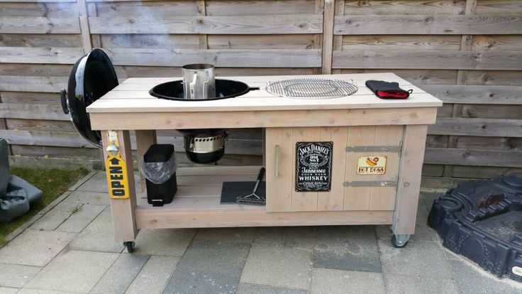 17 best ideas about bbq table on pinterest grill station for Bbq tafel maken