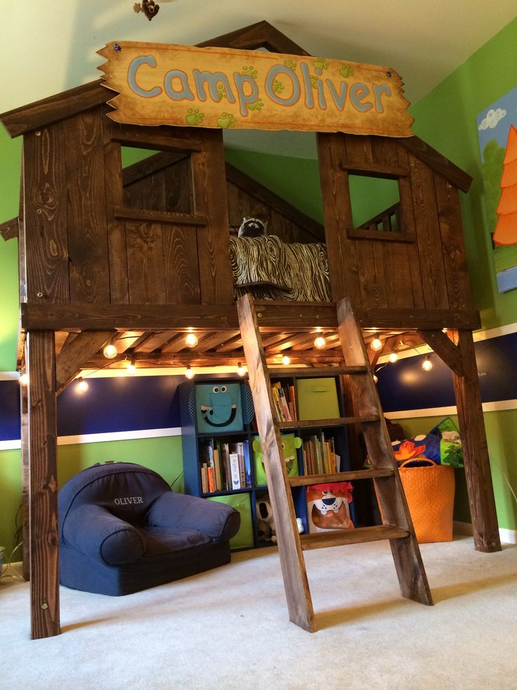 Fort bed and book nook. Kids fort beds, Kid beds