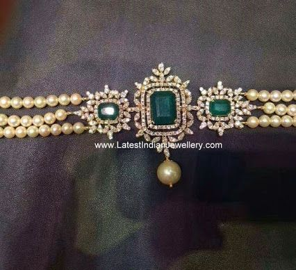 Turquoise, diamond and pearl bridal armlet. Indian bridal jewellery. #jewelry
