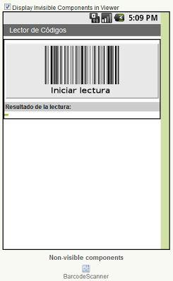Lector Código de Barras (BarcodeScanner) https://sites.google.com/site/appinventormegusta/ejemplos/lector-de-codigo-de-barras