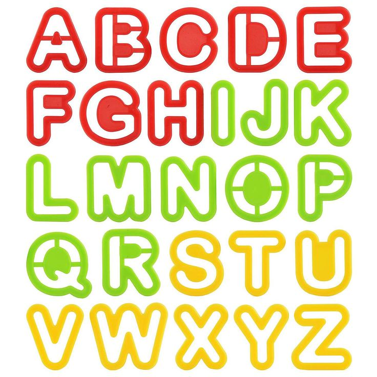 Kids Alphabet Cookie Cutters in a Tube | Dunelm