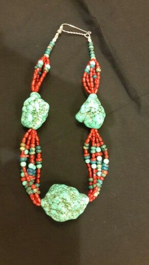 Corals with turquoise