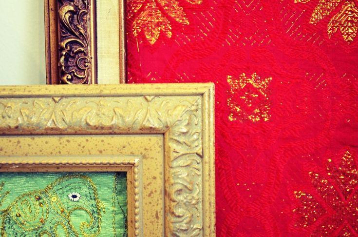 Mr. Kate | DIY framed fabric art