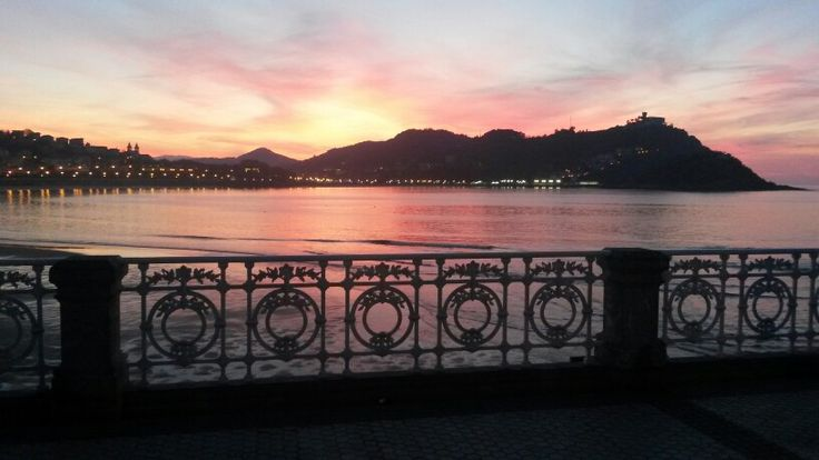 La Concha Bay in San Sebastian. Basque Country