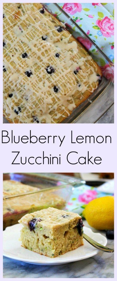 Blueberry Lemon Zucchini Cake - Light, moist cake that is full of fresh blueberries, zucchini with a hint of lemon.