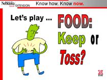 Keep or Toss. An online quiz (and downloadable PowerPoint) to help you decide whether a food is safe to eat.