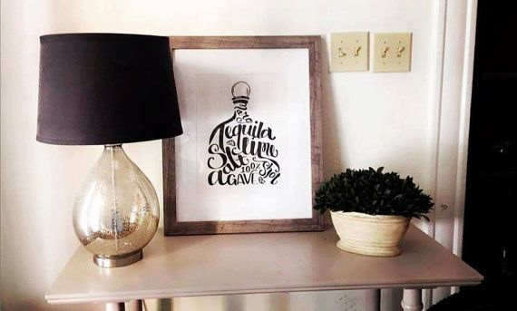 Tequila Print   home decor   alcohol print   alcohol picture   gift  