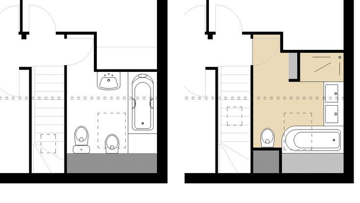 17 meilleures id es propos de plan maison 100m2 sur pinterest plan de maison 100m2 100 m2 - Plan sdb m ...