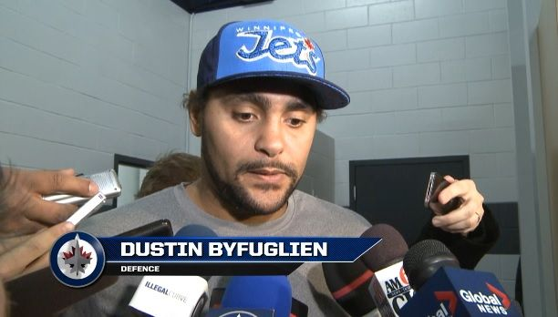 1/12/14- Dustin Byfuglien on the change in coaching staff and the team's responsibility.