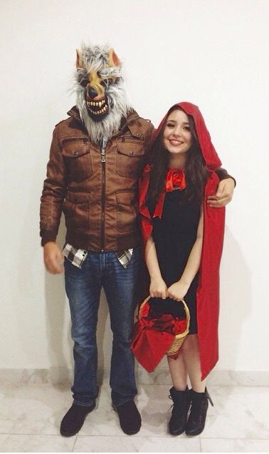 Little red riding hood and the big bad wolf halloween costume
