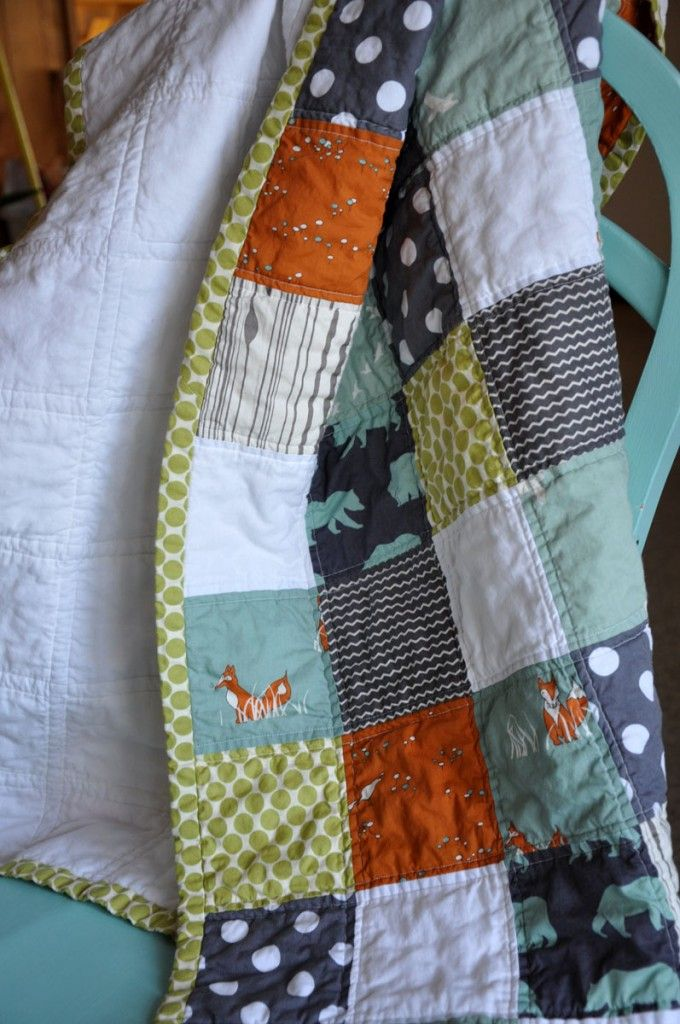 baby boy quilt. This is the exact quilt I want... Minus the foxes maybe. Love the colors. Will probably go with Anthony's quilt too. Karen...did I hear you say you want to make it for me? Thanks so much!