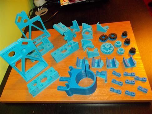 Elementy montażowe wydrukowane na drukarce 3D