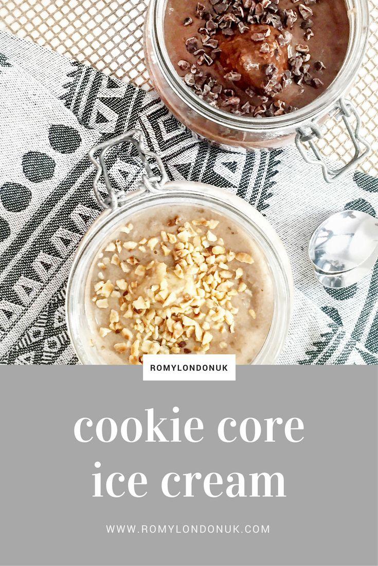 Vegan Cookie Core Ice Cream  Find more vegan recipes on www.romylondonuk.com