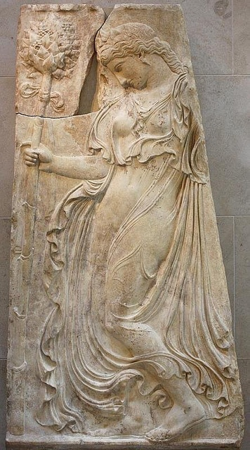 Dancing Maenad by donsutherland1, via Flickr ~ Marble relief with a dancing maenad, Early Imperial, Augustan Period (Roman), ca. 27 B.C. – A.D. 14  Copy of a Greek relief of ca. 425–400 B.C. attributed to Kallimachos
